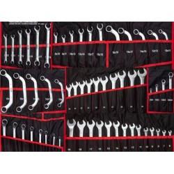Zestaw kluczy płasko-oczkowych TORX 6-32mm klucze 47 elem. + płachta