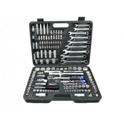 Zestaw kluczy nasadowych i płasko-oczkowych CrV 138 el