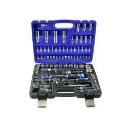 Zestaw kluczy nasadowych i torx 108el.CRV GEKO