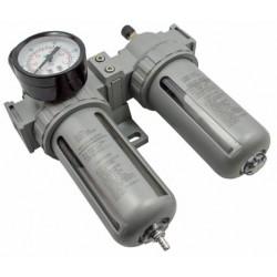 """Filtr powietrza z reduktorem 1/4"""" 0-10bar Separator Odolejacz Odwadniacz"""