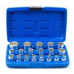 Klucze nasadowe TORX SPLINE 1/2 19el