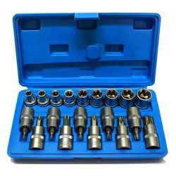 Klucze nasadowe TORX BITY 1/2 E-TORX 19el