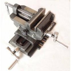 Imadło maszynowe krzyżowe dwuosiowe 100mm GEKO