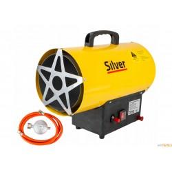 Nagrzewnica dmuchawa gazowa piecyk 15kW wąż + reduktor SILVER
