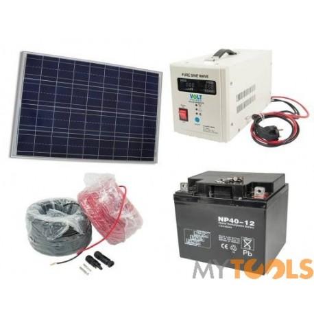 Zestaw solarny 150W 40Ah (Panel, Przetwornica, Akumulator)