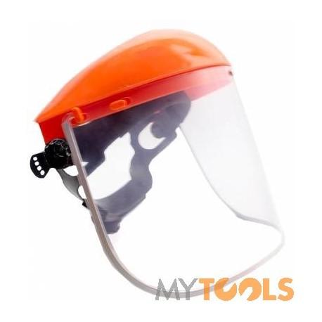Maska ochronna PCV do koszenia trawy (kosa, piła spalinowa)