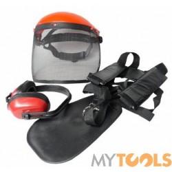 Zestaw maska ochronna szelki i nauszniki do kosy spalinowej DEMON