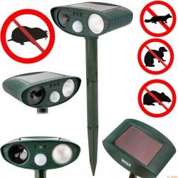 Ogrodowy solarny odstraszacz gryzoni i zwierząt (kun, myszy, szczurów kretów) DOBERMAN