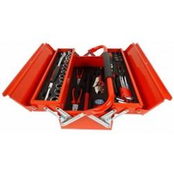 Skrzynka Narzędziowa Metalowa z Wyposażeniem 64 elementy GEKO