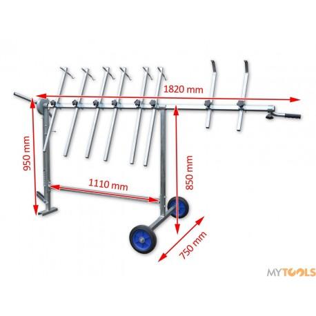 Obrotowy stojak lakierniczy - 8 ramion