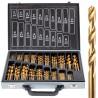 Zestaw wierteł tytanowych do metalu (wiertła) 170 sztuk FALON-TECH