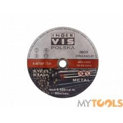 Tarcza do cięcia metalu stali 125x1,0x22,23mm INTER-VIS