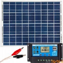 Zestaw solarny ogrodowy 20W (Panel solarny, Regulator napięcia)