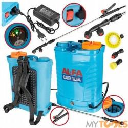 Opryskiwacz Ciśnieniowy Plecakowy Akumulatorowy 16L 12V (5 dysz) AL-FA