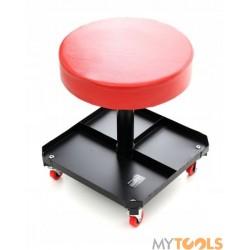 Taboret warsztatowy pneumatyczny z półką krzesło