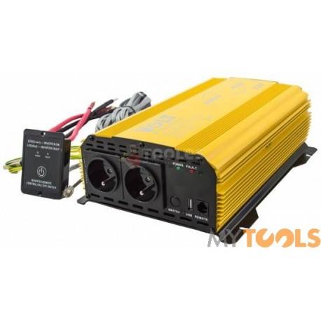 Przetwornica napięcia prądu SINUS 1500 PLUS (12V/230V 1000/1500W) VOLT POLSKA