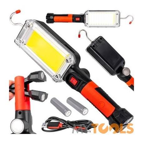 Lampa warsztatowa akumulatorowa LED 20W 700Lm z ładowarką USB
