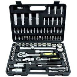 Zestaw narzędziowy klucze nasadowe bity torx 94 sztuk