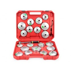 Klucze do filtrów oleju nasadowe 23 sztuk GEKO