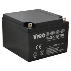 Akumulator Żelowy AGM VRLA VPRO 26Ah 12V Bateria UPS VOLT POLSKA